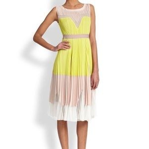 BCBGMaxAzria Colorblock midi dress